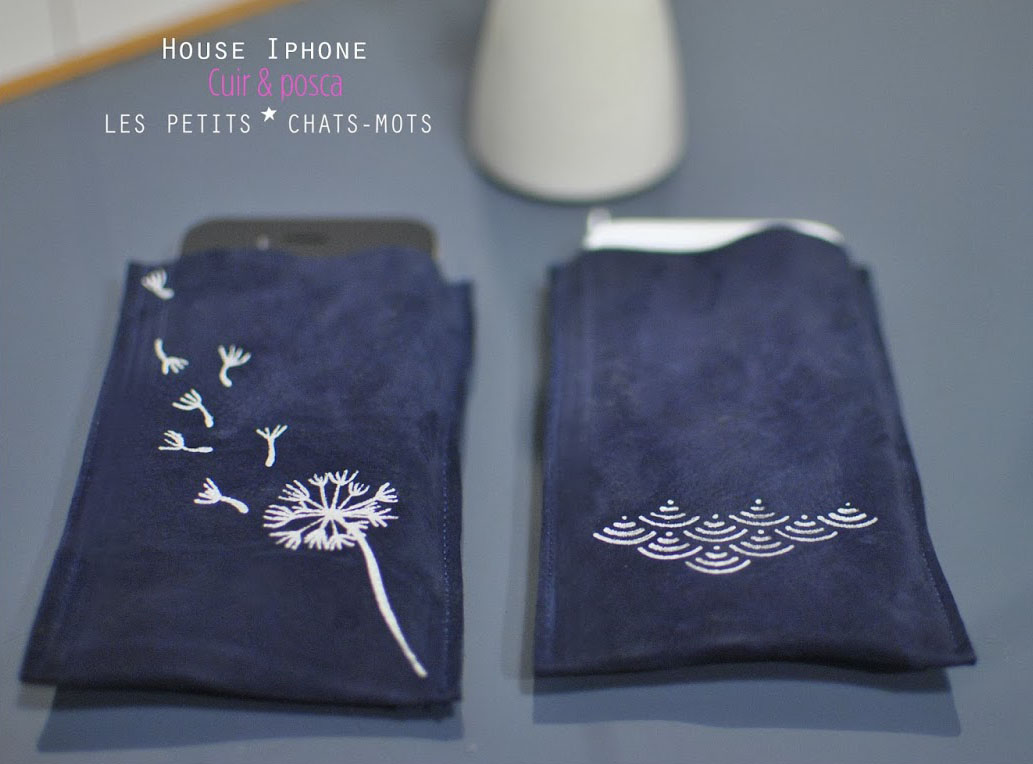 Housse iphone en cuir lespetitschatsmots for Iphone housse cuir