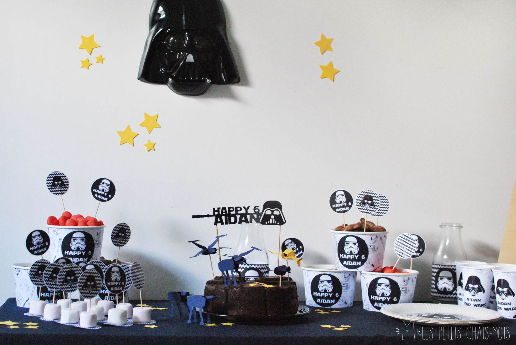 d coration anniversaire star wars ginette brunet. Black Bedroom Furniture Sets. Home Design Ideas