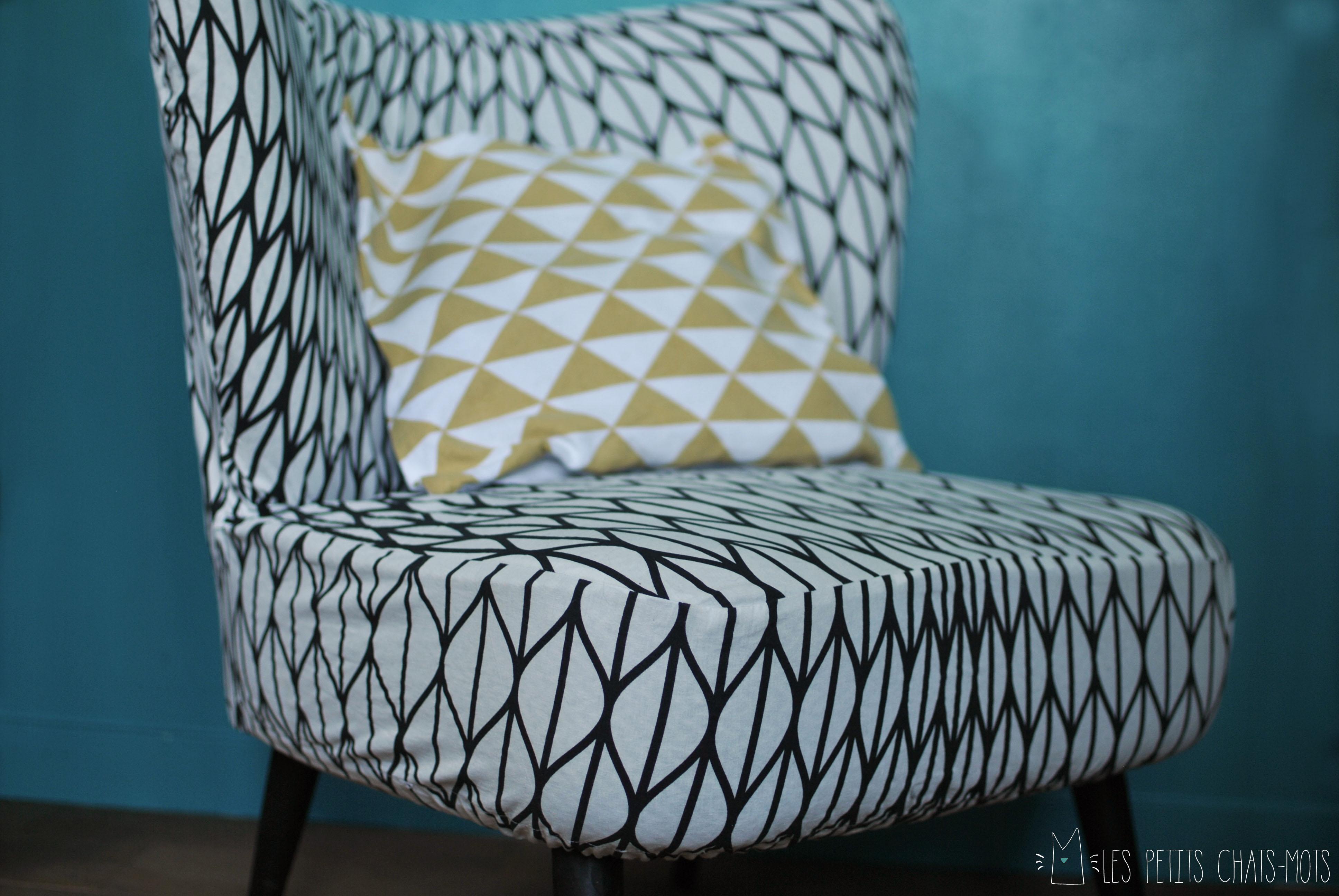 housse pour fauteuil ampm lespetitschatsmots. Black Bedroom Furniture Sets. Home Design Ideas