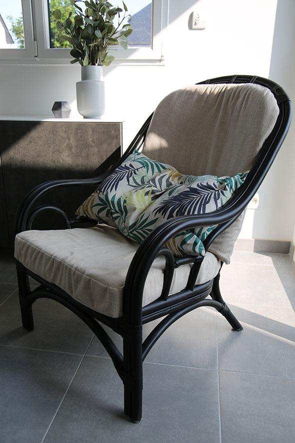 avant apr s un fauteuil en rotin lespetitschatsmots. Black Bedroom Furniture Sets. Home Design Ideas